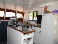 Fully equipped kitchen with coffee machine