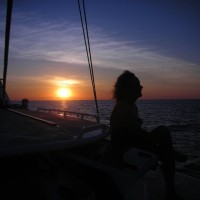Take in the majesty of night sailing