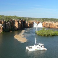Sundancer NT at anchor near the falls in Casuarina Creek