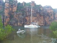 Sundancer at anchor in the Kimberleys