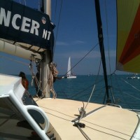 Sundancer under sail