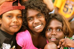 Aboriginal kids smiling