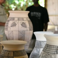 Pirlangimpi pottery at Munupi Arts Centre