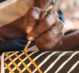 Tiwi Artist at work